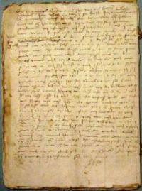 Testament met vermelding van het altaar van Sint Sebastiaan.